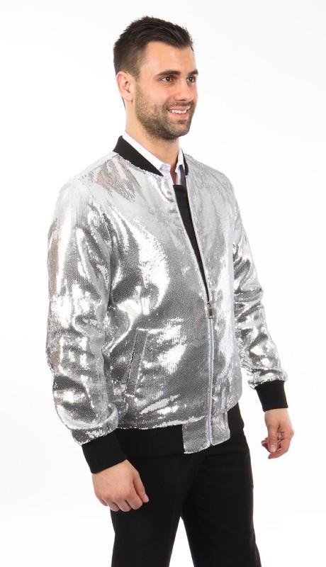 MJ219S-03 ( 1pc Round Neck Sequin Jacket )