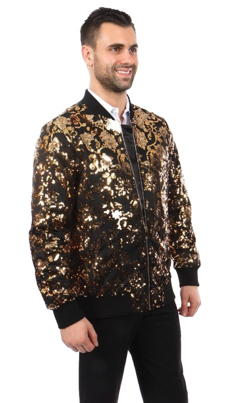 MJ234-02 ( 1pc Round Neck Sequin Jacket )