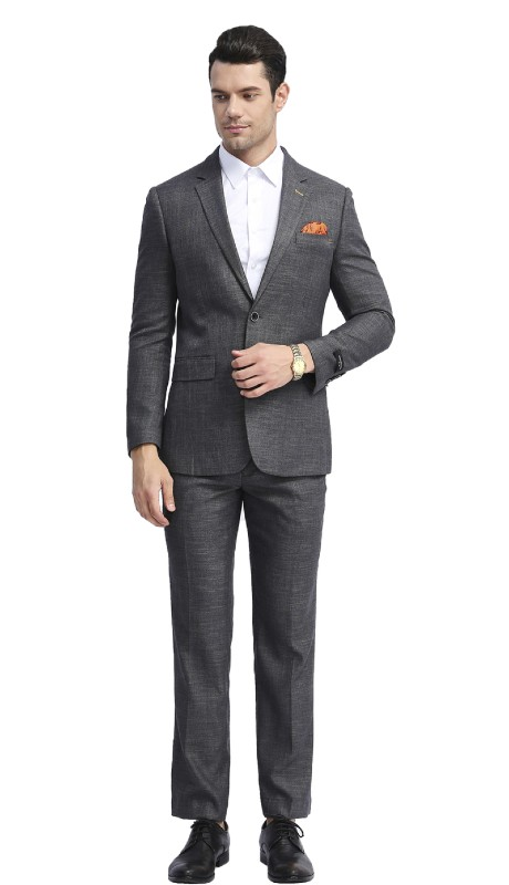 MJ288S-03 ( 1pc Mens Two Button Notch Lapel Slim Fit Solid Jacket With One Chest Pocket )