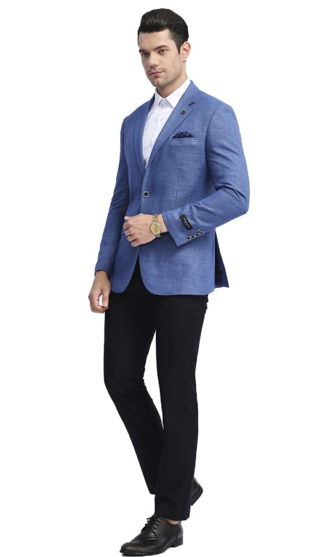 MJ288S-04 ( 1pc Mens Two Button Notch Lapel Slim Fit Solid Jacket With One Chest Pocket )