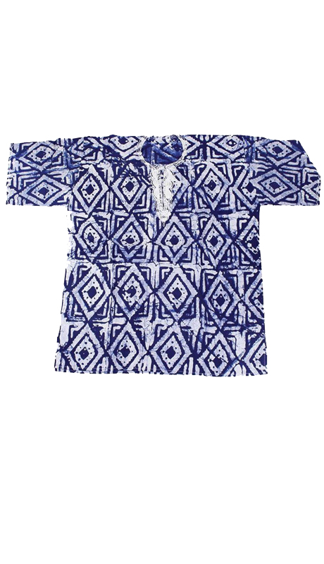 Essence Collection C-M082-BLU (  Batik Dashiki true traditional African style. 100% cotton. )
