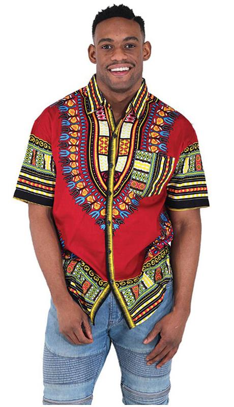 Essence Collection C-M077-BUR ( Traditional Short-Sleeve Dress Shirt. 100% cotton. )