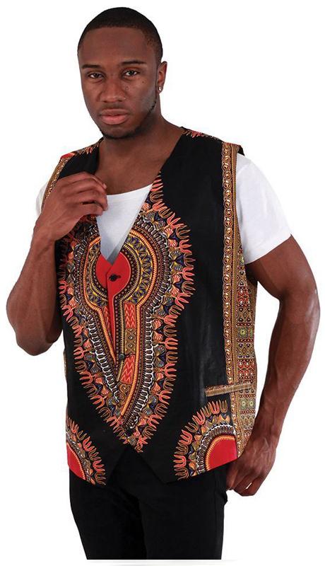 Essence Collection C-M089 ( Traditional print vest. 100% cotton. )