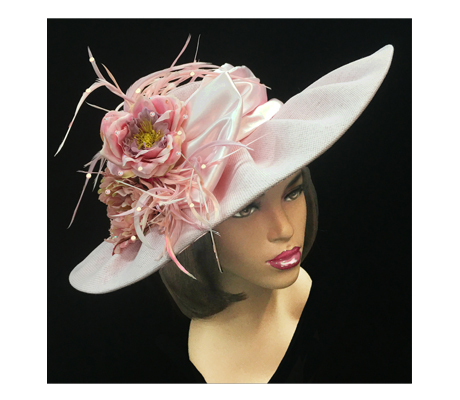 2223 Solange ( Quintessential Garden Party Hat With Delicate Flower )