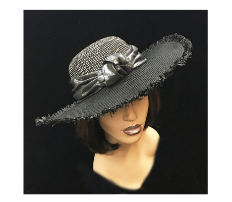 2224 Origami ( Fringed Hat With Crystal Crown And Origami Knot )