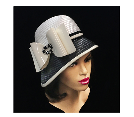 2230 Paris ( Chic Cloche  With Patent Bow And Jewel Buckle )