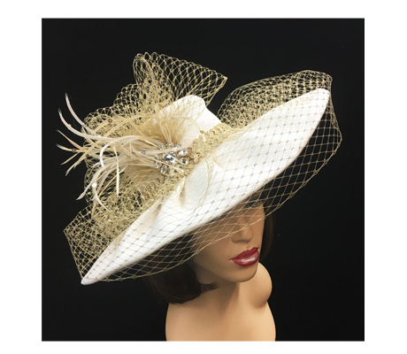 2240 Augusta ( Classic Derby Hat With Jewel Band And Veiling )