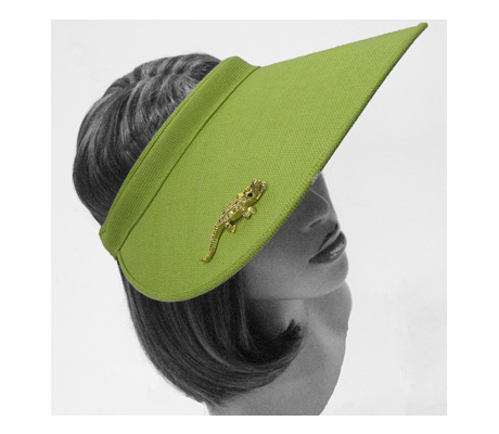 V1294 Critter ( Sun Visor With Jeweled Crocodile )