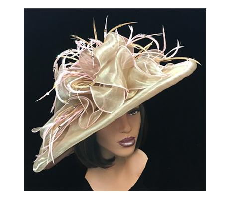 2201 Aurora ( Shimmer Organza Derby Hat)