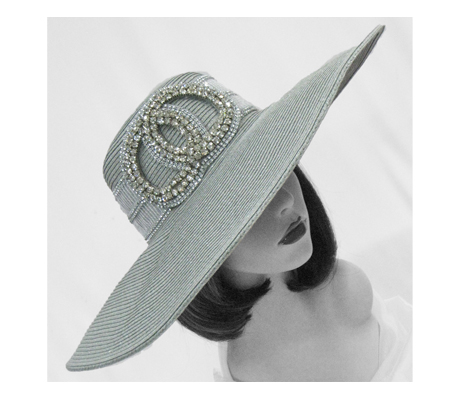 1803 Cannes ( Poolside Hat With Rhinestone Band And Circles )