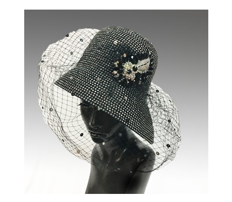 1939 Chandelier ( Rhinestone Cloche Hat With Veil )