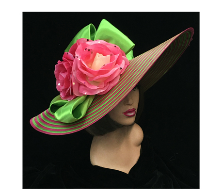 2082 Voyager ( Large Brim With Flower And Bow )