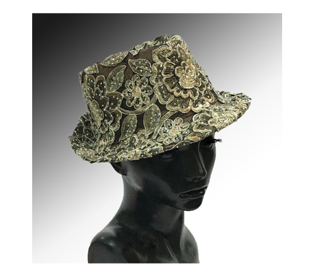 2139 Bestia ( Small Fedora Covered In Embroidery )