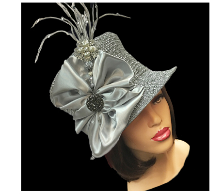 2150 Jerra ( Crystal Bucket With Jeweled Hat Pin )