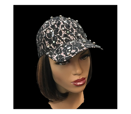 2209 Reese ( Sassy Lace Baseball Cap With A Touch Of Bling )