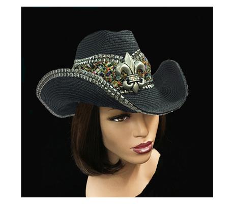 SC21754 Jambayla ( Spicy Cowboy Hat With Fleur De Lys )