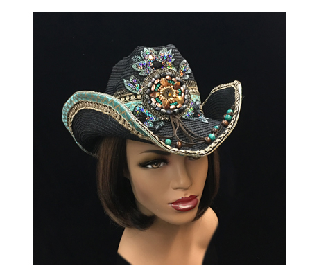 SC2173 Cerveza ( Beaded Mexicali Inspired Western Hat )