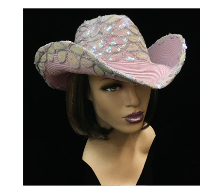 SC2093 Ciara Cowboy ( Cowboy With Embroidered Sequin Crown And Edge )