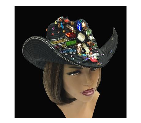 SC1718 Bourbon Street  ( Festive Multi Jewel Fantasy Western Hat )