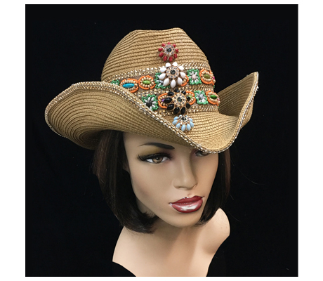 SC2183 Coronado ( Cowboy Hat With Handcrafted Band And Enamel Buttons )
