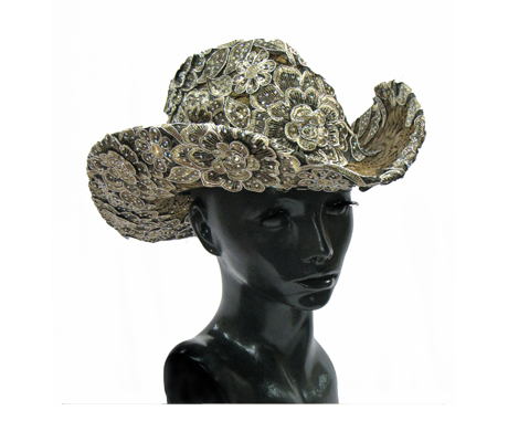 SC1372 Madrid Cowboy ( Cowboy With Embellished Lace Crown And Brim )