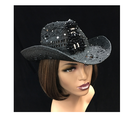SC1279 Hop-A-Long Cowboy ( Open Weave Cowboy With Scattered Rhinestones )