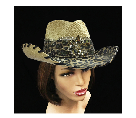SC1260 Dundee ( Cowboy With Animal Print Band And Brim )