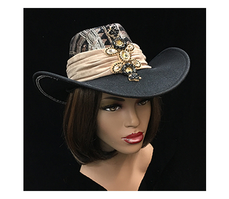 2258 Mojave ( Sequin Adorned Safari Hat With Microsuede Band )
