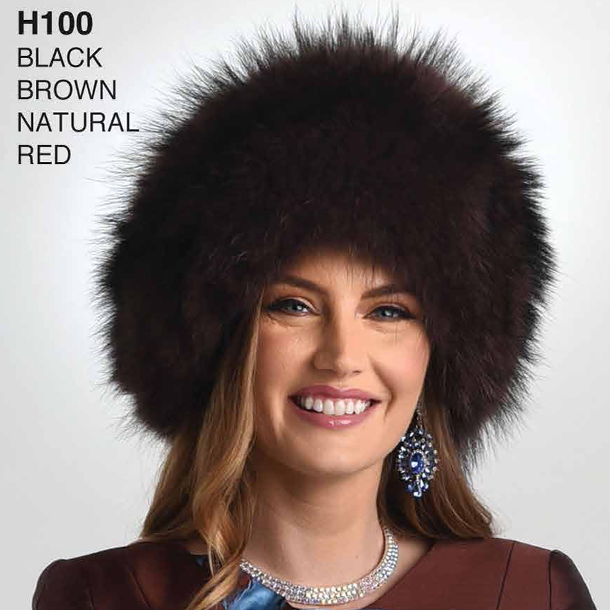 Lily And Taylor Genuine Fox Fur Hat H100