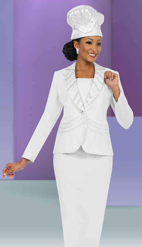 Fifth Sunday 52828-WH ( 3pc PeachSkin First Ladies Suit )