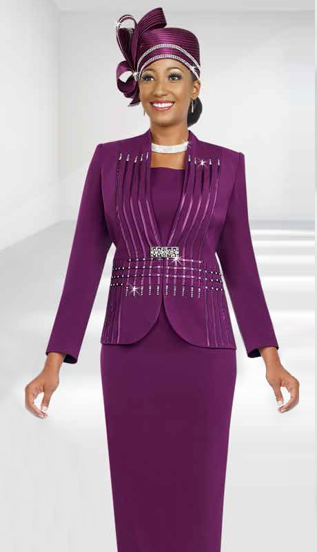 Fifth Sunday 52818-MA ( 3pc PeachSkin First Ladies Suit )