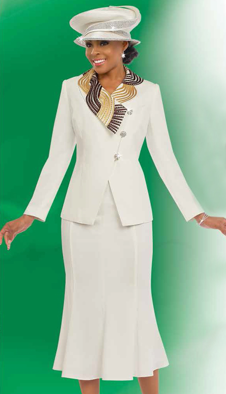 Fifth Sunday 52807-OW ( 3pc PeachSkin Ladies Suit For Sunday )