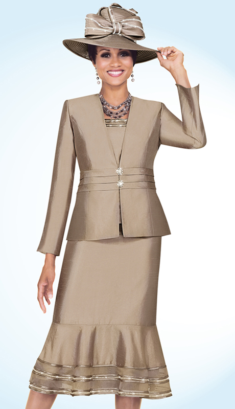 Fifth Sunday 52734-CH ( 3pc PeachSkin First Ladies Suit )