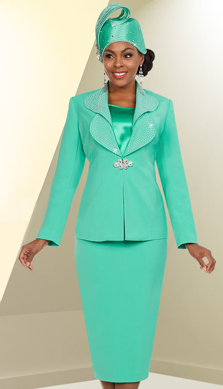 Fifth Sunday 52875-MI ( 3pc PeachSkin Sunday Skirt Suit )