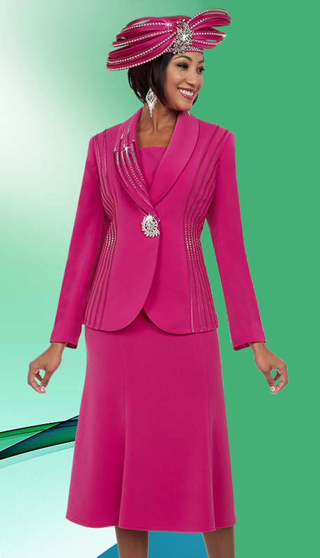Fifth Sunday 52869-FU ( 3pc PeachSkin Ladies Skirt Suit For Sunday )