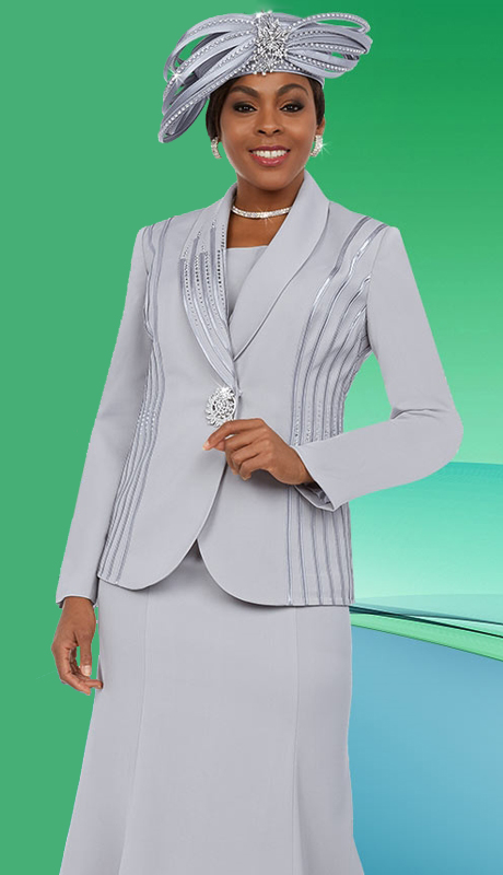 Fifth Sunday 52869-PL ( 3pc PeachSkin Ladies Skirt Suit For Sunday )
