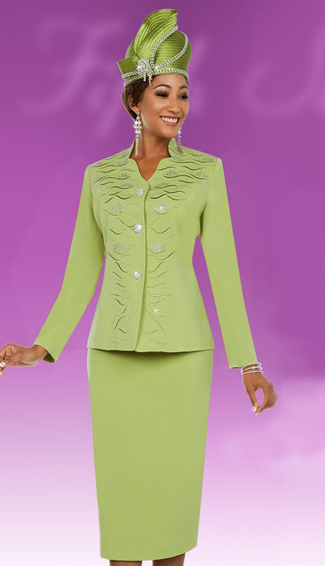 Fifth Sunday 52867-KI ( 3pc PeachSkin Ladies Skirt Suit For Sunday )