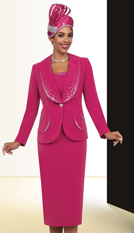Fifth Sunday 52852-F-CO ( 2pc PeachSkin Shawl Collar And Layered Pocket Details With Rhinestone Embellished Jacket And Skirt, Womens Suit For Church )