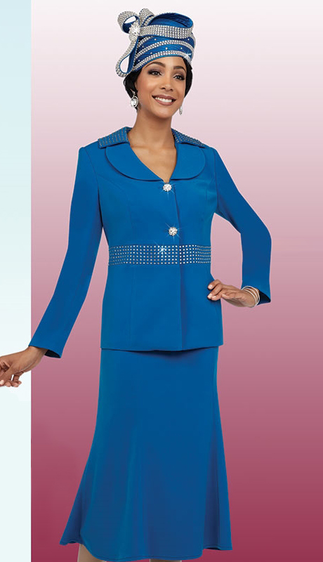 Fifth Sunday 52850-RO ( 3pc PeachSkin Ladies Sunday Skirt Suit )