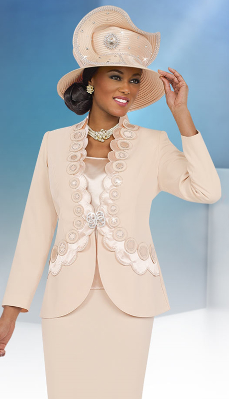 Fifth Sunday 52845-CH ( 3pc PeachSkin Ladies Suit For Sunday )