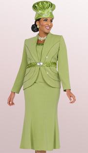 Fifth Sunday 52839-KI ( 3pc Braided Ribbon Waiste Rhinestone Embellished Jacket, Skirt And Camisole Womens Suit )