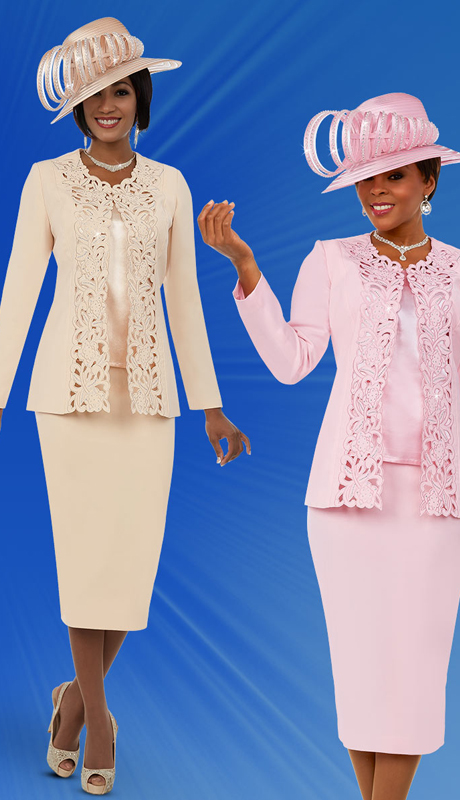 Fifth Sunday 52888 ( 3pc Ladies Skirt Suit With Intricate Cut-Out Design Jacket )