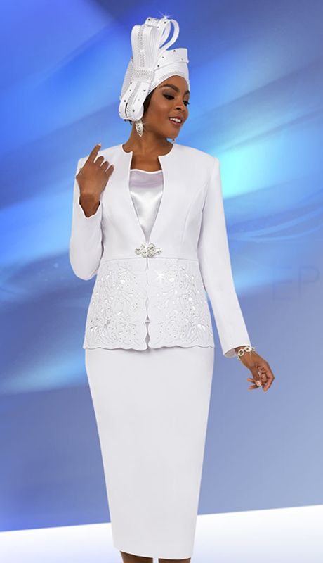 Fifth Sunday 52876-W ( 2pc Womens Skirt Suit For Church With Embroidery Design Jacket )