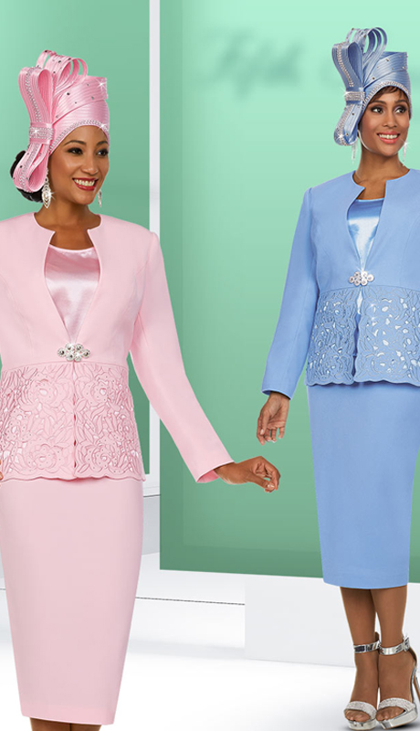 Fifth Sunday 52876 ( 2pc Womens Skirt Suit For Church With Embroidery Design Jacket )