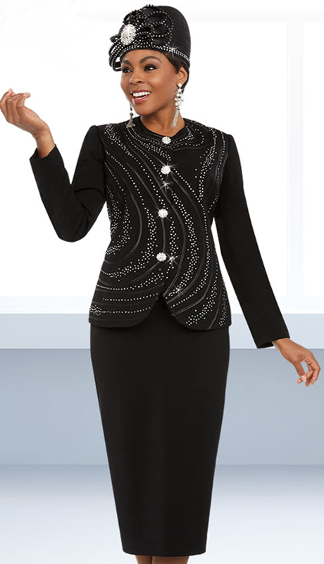 Fifth Sunday 52873-B ( 2pc Embellished Ladies Sunday Skirt Suit With Piping Design )