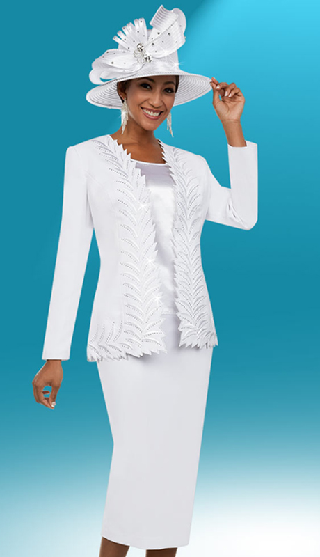 Fifth Sunday 52887-W ( 3pc Skirt Suit With Intricate Trimmed Jacket )