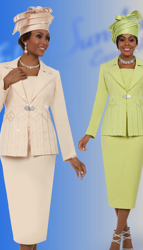 Fifth Sunday 52871 ( 2pc Notch Lapel Womens Church Suit )