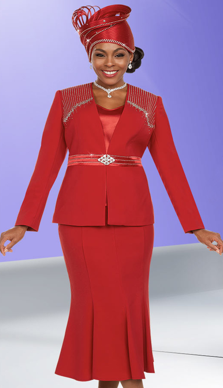 Fifth Sunday 52870 ( 2pc Embellished Womens Church Suit With Flared Skirt )