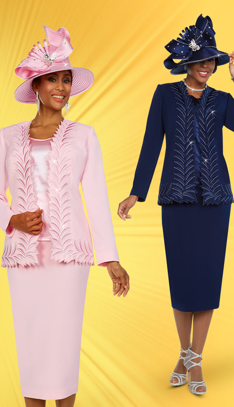Fifth Sunday 52887 ( 3pc Skirt Suit With Intricate Trimmed Jacket )