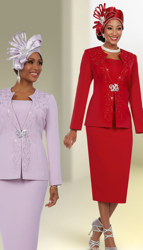 Fifth Sunday 52868 ( 2pc Embellished Womens Church Suit )